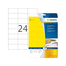 Herma Etiket Herma 4466 70x37mm geel 480stuks