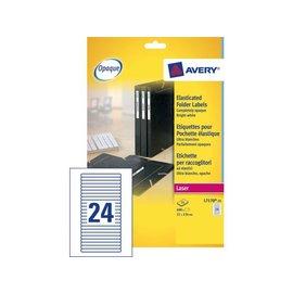 Avery Etiket Avery l7170-25 134x11mm wit 600stuks