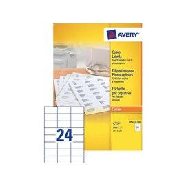 Avery Etiket Avery dp247-100 70x37mm kopieren 2400stuks