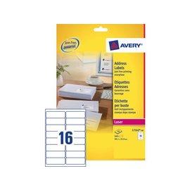 Avery Etiket Avery l7162-40 99.1x33.9mm wit 640stuks