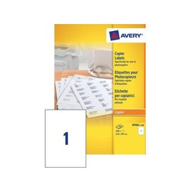 Avery Etiket Avery dp001-100 210x297 kopieren 100stuks