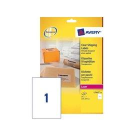 Avery Etiket Avery l7567-25 210x297mm transparant 25stuks
