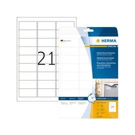 Herma Etiket Herma 4864 63.5x29.6mm polyester wit 270stuks