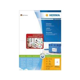 Herma Etiket Herma 4676 105x148mm a6 premium wit 400stuks