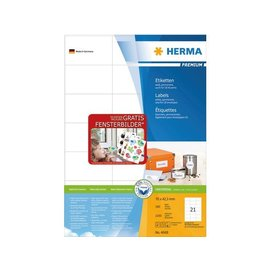 Herma Etiket Herma 4668 70x42.3mm premium wit 2100stuks