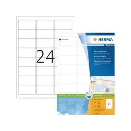 Herma Etiket Herma 4645 63.5x33.9mm premium wit 2400stuks