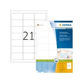 Herma Etiket Herma 4677 63.5x38.1mm premium wit 2100stuks