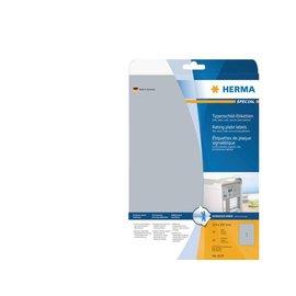Herma Etiket Herma 4224 210x297mm zilver 25stuks