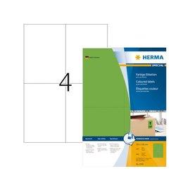 Herma Etiket Herma 4399 105x148mm a6 groen 400stuks