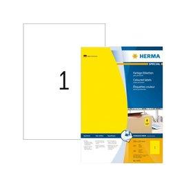 Herma Etiket Herma 4401 210x297mm A4 geel 100stuks