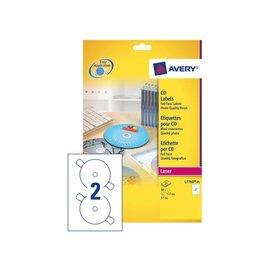 Avery Etiket Avery l7760-25 cd full size glossy 50stuks