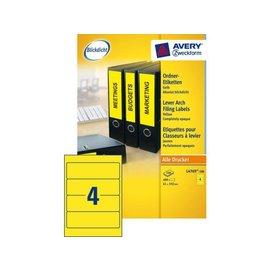 Zweckform Rugetiket Avery l4769-100 192x61mm zelfklevend geel