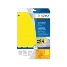 Herma Etiket Herma 8032 105x148mm folie geel 100stuks