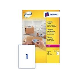 Avery Etiket Avery l7167-100 199.6x289.1mm dekkend wit 100stuks