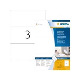 Herma Etiket Herma 4664 210x99mm geperforeerd wit 300stuks