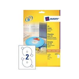 Zweckform Etiket Avery l6043-100 cd wit 200stuks