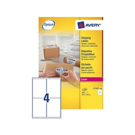Avery Etiket Avery l7169-100 99.1x139mm dekkend wit 400stuks
