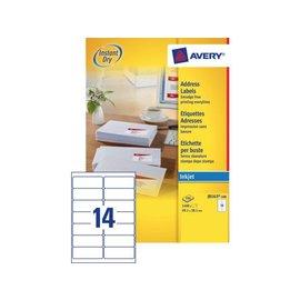 Avery Etiket Avery j8163-100 99.1x38.1mm wit 1400stuks
