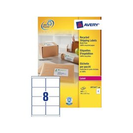 Avery Etiket Avery lr7165-100 99.1x67.7mm recycled wit 800stuks