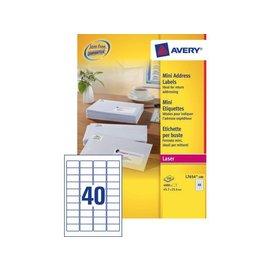 Avery Etiket Avery l7654-100 45.7x25.4mm wit 4000stuks