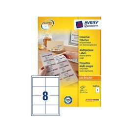 Zweckform Etiket Avery zweckform 3660 97x67.7mm wit 1600stuks