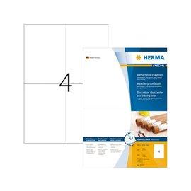 Herma Etiket Herma 4377 105x148mm A6 weerbestendig 400stuks wit