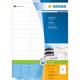Herma Herma 4611 etiketten wit 70x16,9 premium A4 10200 st.