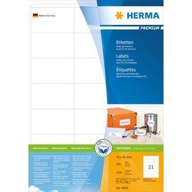 Herma Herma 4634 etiketten wit 70x41 premium A4 4200 st.