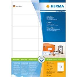 Herma Herma 4635 etiketten wit 105x48 premium A4 2400 st.