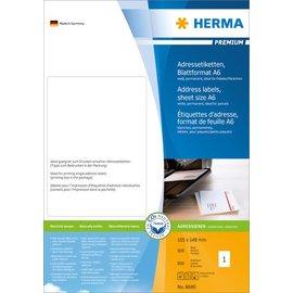 Herma Herma 8689 adres-etiketten premium vel formaat A6 105x148 mm wit papier mat 800 st.