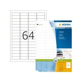Herma Etiket Herma 4607 48.3x16.9mm premium wit 12800stuks