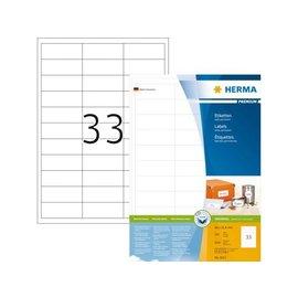 Herma Etiket Herma 4613 66x25.4mm premium wit 6600stuks