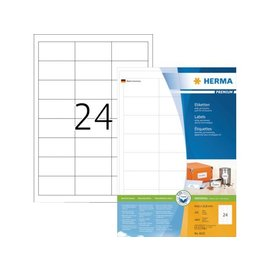 Herma Etiket Herma 4632 64.6x33 8mm premium wit 4800stuks