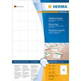 Herma Herma 8044 stevige labelhangers A4 30x37 mm wit papier/folie/papier geperforeerd niet hechtend 5600 st.