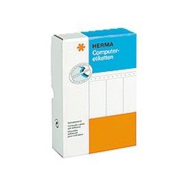 Herma Etiket Herma 8220 88.9x35.7mm 2-baans wit 8000stuks