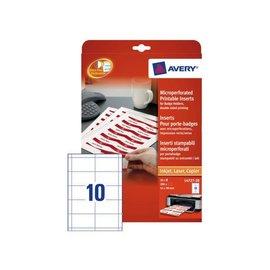 Avery Badgekaart Avery l4727-20 54x90mm microperforatie