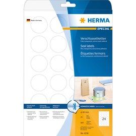 Herma Herma 4236 sluitetiketten transp. permanent hechtend ø40 mm A4 lc