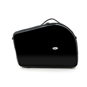 BAGS Waldhorn Formkoffer – schraubbarer Becher – mit Dämpferfach – Farbe: schwarz glänzend