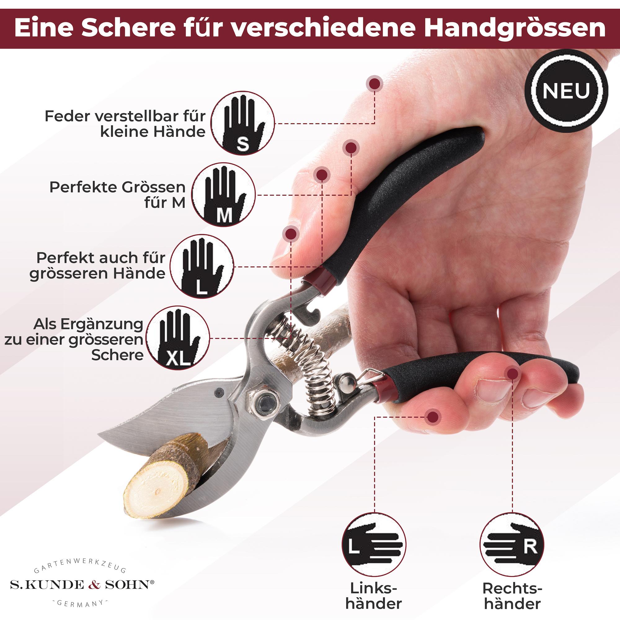 S. Kunde & Sohn Germany SKS 6 Tradition schwarz/Klinge silber  4er Set - 2 Scheren + 2 Ersatzklingen