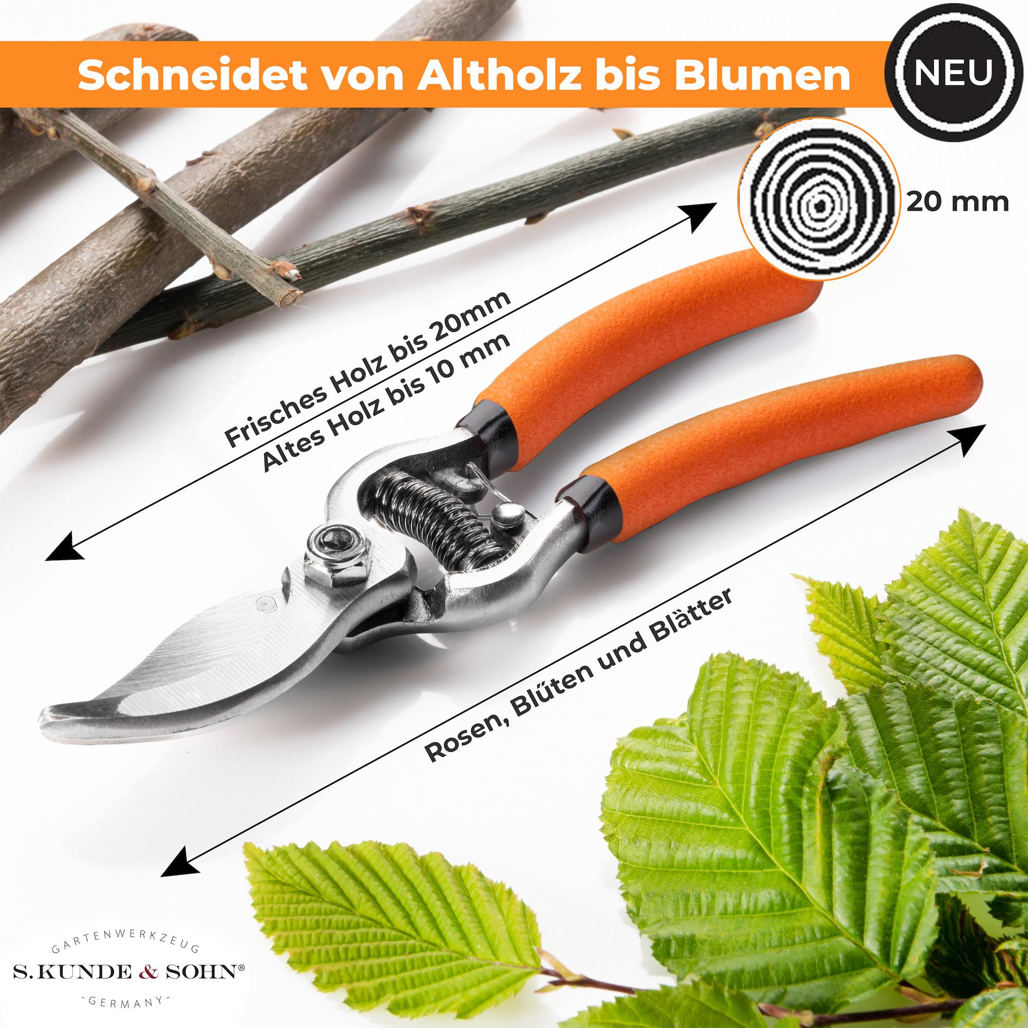 S. Kunde & Sohn Germany SKS 6 Tradition 17cm Schwarz/Klinge silber