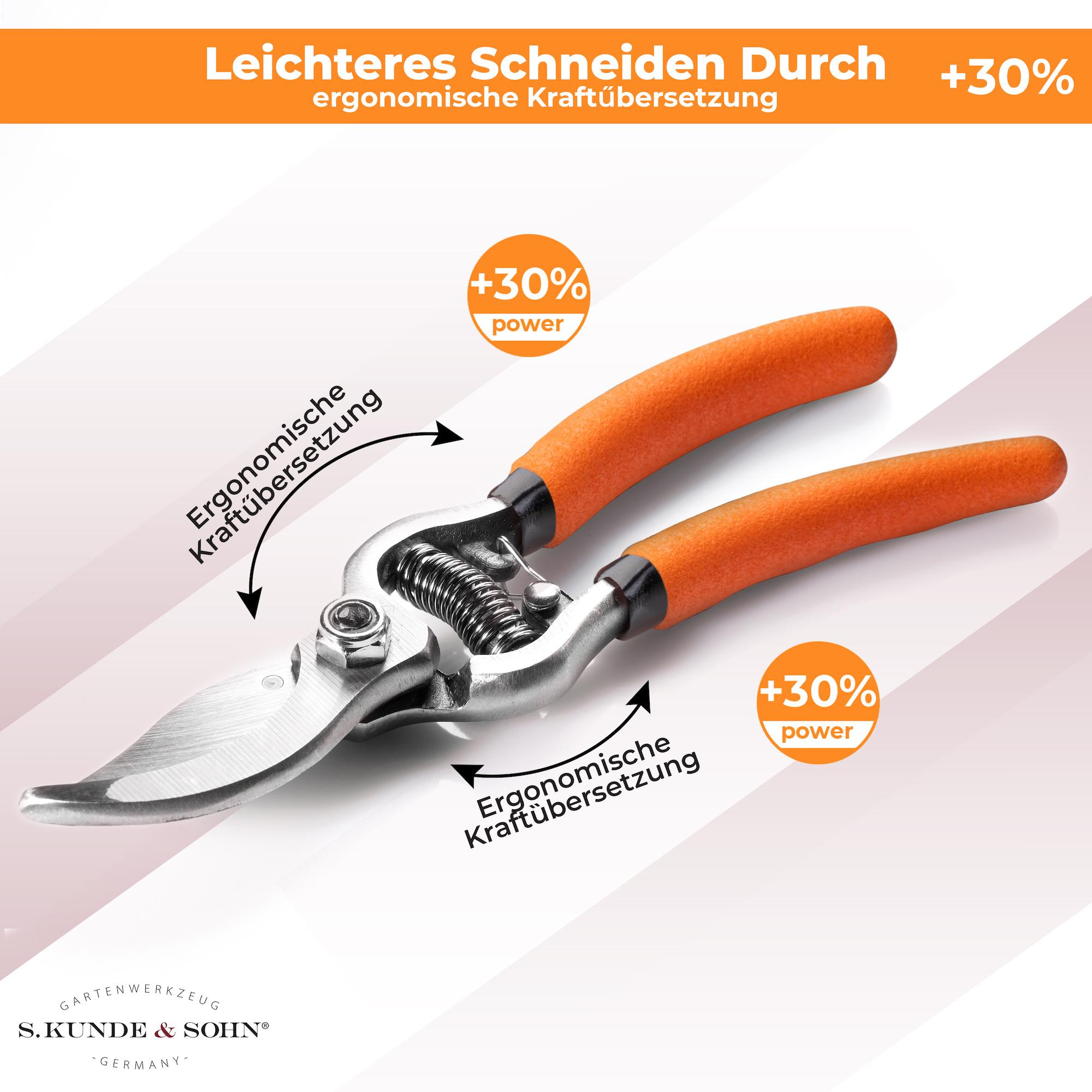 S. Kunde & Sohn Germany SKS 6 Tradition Orange/Klinge silber 2er Set - Schere + 1 Ersatzklinge  - Copy