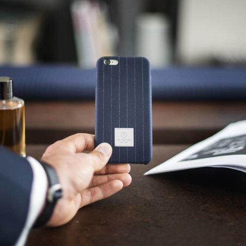Revested iPhone 7/8 Hoesje - Pinstripe Blue