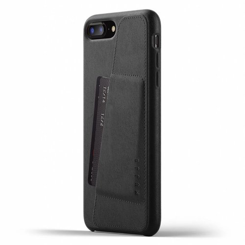 the latest c2968 cac7c Mujjo Leather Wallet for iPhone 7/8 Plus - Black