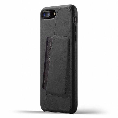 Mujjo Leren Wallet voor iPhone 7/8 Plus - Zwart