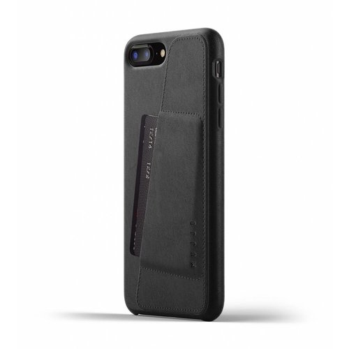 Mujjo Leren Wallet iPhone 7/8 Plus - Zwart