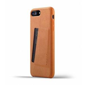 Mujjo Leren Wallet voor iPhone 7/8 Plus - Bruin