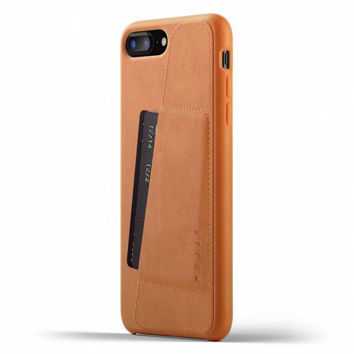 Mujjo Leather Wallet iPhone 7/8 Plus - Brown