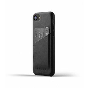 Mujjo Leren Wallet iPhone 7/8 - Zwart