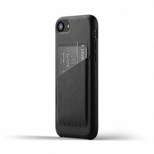 Mujjo Leren Wallet voor iPhone 7/8 - Zwart