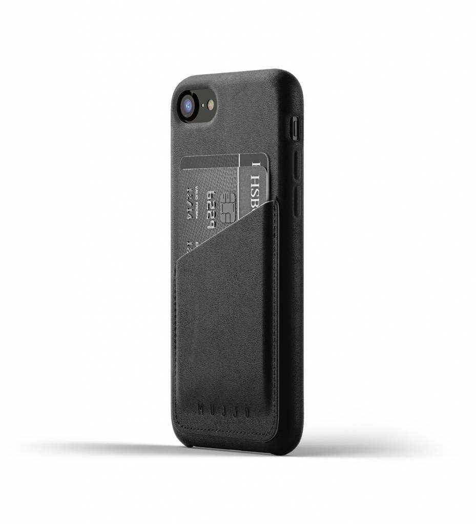 Leather Wallet iPhone 7/8 - Black